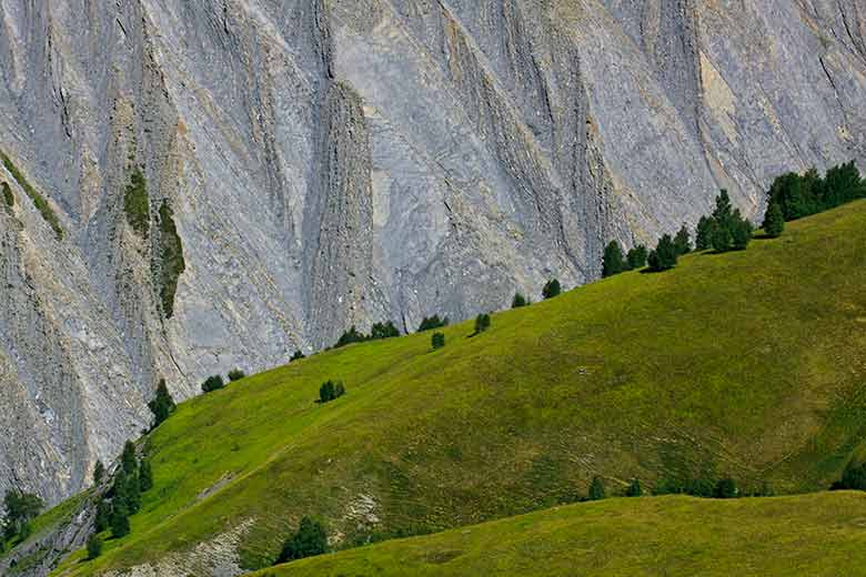 20 relief raviné dans l'Oisans Alpes