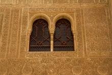 photo-architecture-détail-ornementation-Alhambra-à-Grenade-Andalousie-Espagne